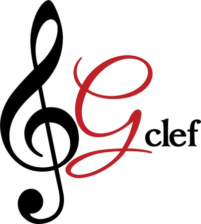 notation: Treble clef Illustration