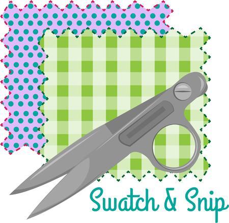 ciach: Stworzyć coś specjalnego dla szwaczka lub pikowaniem. Idealny projekt dla studia szycia lub skrzynki tkaniny.