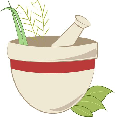 pestle: A mortar and pestle Illustration