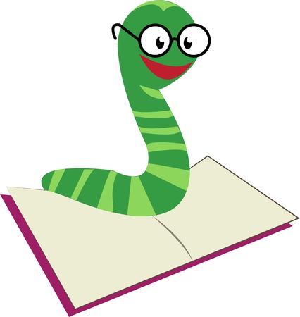 fixture: Encourage reading and learning with this super cute bookworm.  He is a perfect decorative fixture for any classroom or library. Illustration