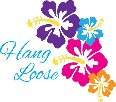 laurier rose: Hibiscus tropical Illustration