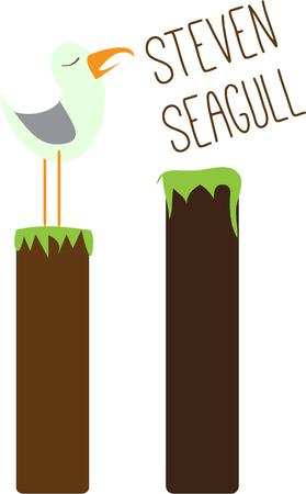 seabird: Seagull Illustration