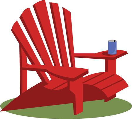 lawn chair: Backyard chair