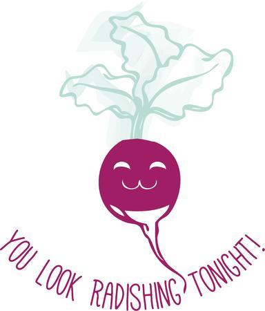 vegatables: Purple radish