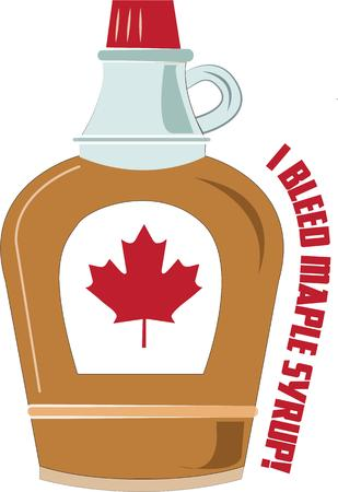 syrup: Maple syrup