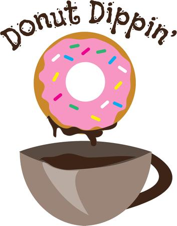 dunking: Doughnut and coffee Illustration