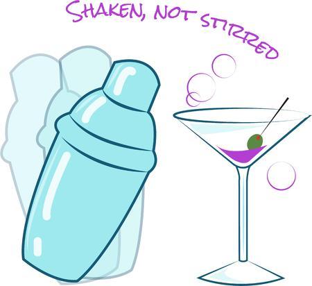 martini shaker: Cocktails Illustration