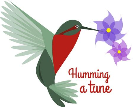 humming: A graceful hummingbird brings the beauty of nature to your creations.  The added floral element puts natures most beautiful in one design