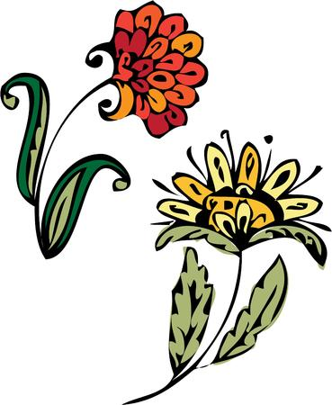 april showers: Sweet flowers Illustration