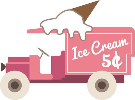 frozen treat: Ice cream truck