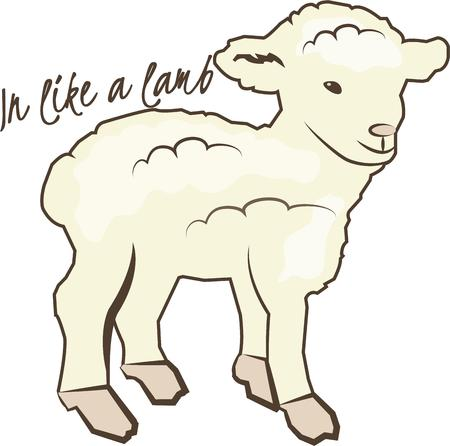 ruminant: This lovely little lamb adds a calm sweetness to your projects.  He is perfect for babies and kids.