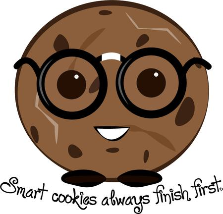 snappy: A smart and snappy cookie takes your project to the next level.  Make a smart move and add this cookie to your work.