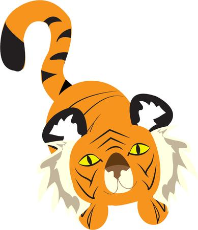 bengal: A cuter tiger will be hard to find  This bigeyed tiger watches over your creations with huge dreamy eyes.