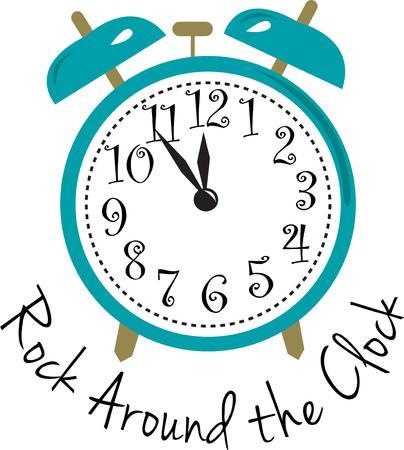 llegar tarde: Lleve un registro de tiempo y nunca llegar tarde. Este despertador te mantiene en el tiempo y es la gr�fica perfecta para anunciar un evento o tiempo de cambio especial.