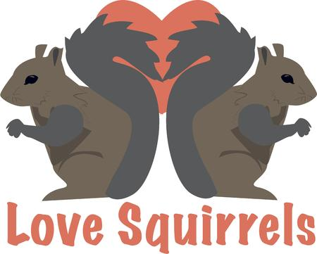 marmot: Show the love with this sweet pair.  These squirrels backed by a red heart create an unexpected decoration for engagements or Valentines.