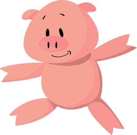 oink: This is the cutest pig ever  The simple cartoon like design adds a lighthearted feel to your project. Illustration