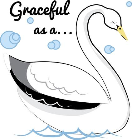 swans: Beautiful swans add grace and elegance.  We love this lovely design on bath and spa wear.