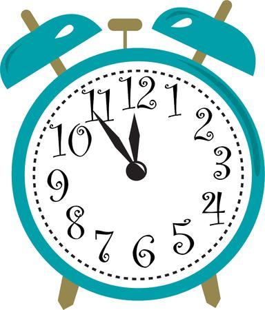 special event: Keep track of time and never be late.  This alarm clock keeps you on time and is the perfect graphic to advertise a special event or time change.