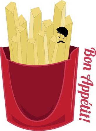 check out: Have some fries with Frenchie  Check out the little man in a beret hiding within the fries.  Add some humor to mealtime