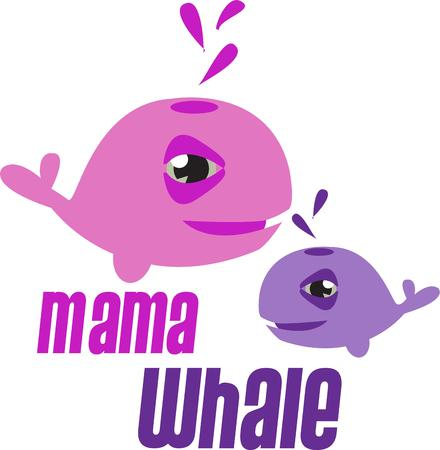 humorous: Colorful whales bring a humorous element to your projects. This family motif is great for moms and babies alike.
