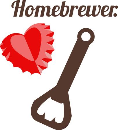 opener: Open a bottle of something you love with this special bottle opener.  It makes a heart of every cap it pops