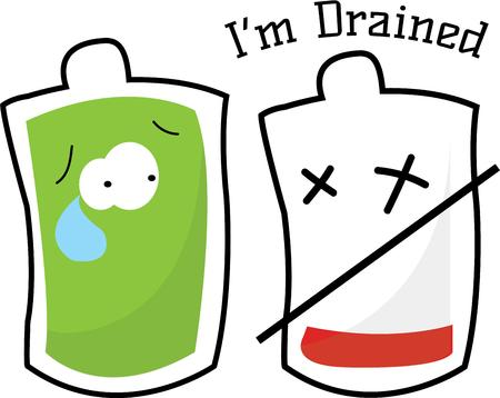 to incorporate: Incorporate this blood bag graphic into your blood donation drive.  Add a slight bit of fun to a serious need. Illustration