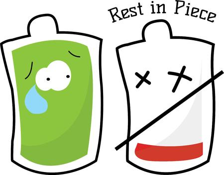 incorporate: Incorporate this blood bag graphic into your blood donation drive.  Add a slight bit of fun to a serious need. Illustration