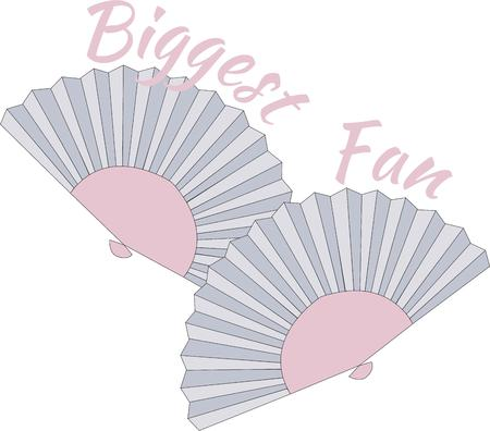 asian art: Two folding fans are a lovely work of Asian art.  They are a perfect way to add Japanese flair to your apparel or decorating.