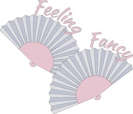 flair: Two folding fans are a lovely work of Asian art.  They are a perfect way to add Japanese flair to your apparel or decorating.