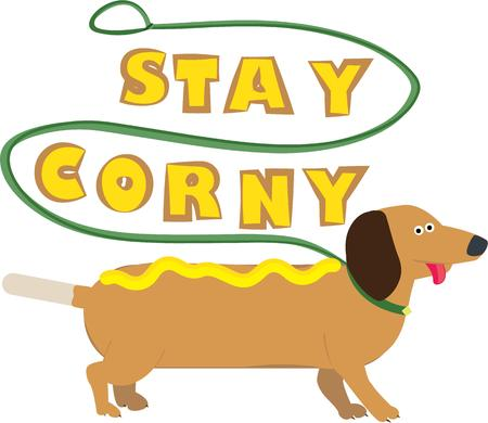 weiner: Hot diggity dog  Heres a fun pup with a happy greeting.  This wiener dog is a cheery addition anytime you need to add a smile. Illustration