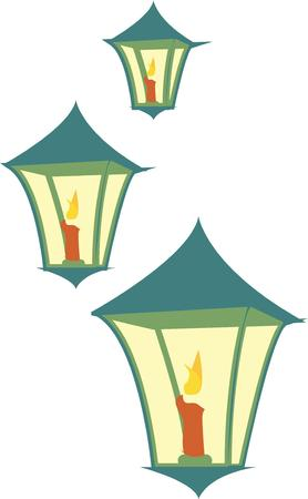 brighten: Candle lights brighten the path.  Choose these illuminating designs for your projects.