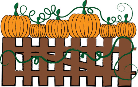 pumpkin patch: Gather your little pumpkins up and head to the pumpkin patch  Catch the fun of fall with these treasures of fall. Illustration