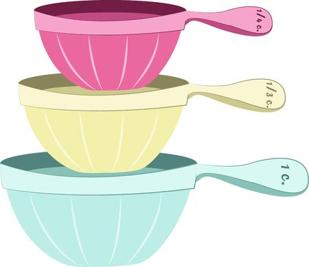 cookware: Utensilios de cocina pastel Bastante hacen de la cocina un lugar divertido. A�adir estas bellezas a su colecci�n de cocina. Vectores