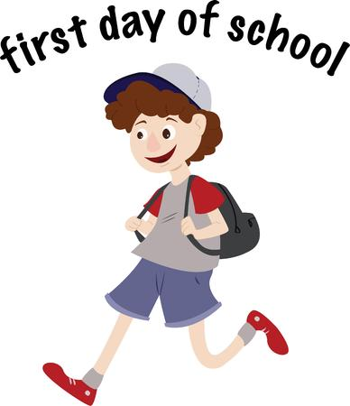 memorable: Send the little ones off to their first day of preschool with gear decorated for the special occasion.  This design will make the day memorable indeed
