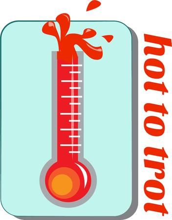 trot: Another hot day in the summertime.  With the mercury bursting out the top it must be a day for the record books