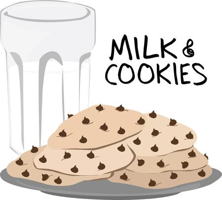 milk and cookies: Here is the perfect treat  milk and cookies.  This yummy snack is a perfect addition to your kitchen design.