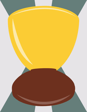 congratulate: Congratulate to the best with this winners cup.  Add some custom text to send a very special message. Illustration