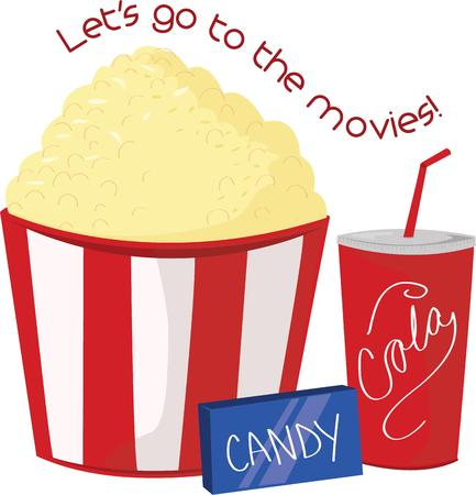 buttered: Whats a movie night without snacks.  Choose our trio of treats for your night at the movies.