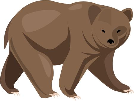 prowl: This ferocious grizzly bear is on the prowl.  No wonder these giant predators are frequent team mascots or emblems of fierceness