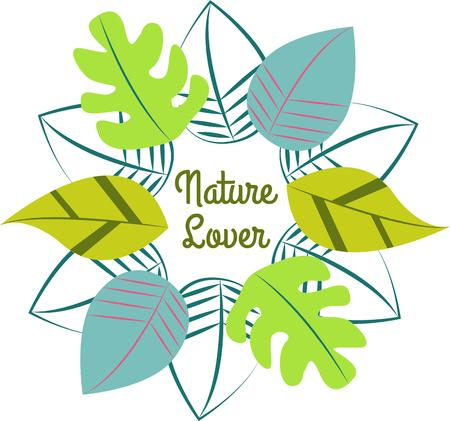 incorporates: A wreath of leaves creates a masterpiece from nature.  It incorporates leaves from several kinds of trees for a well rounded look. Illustration