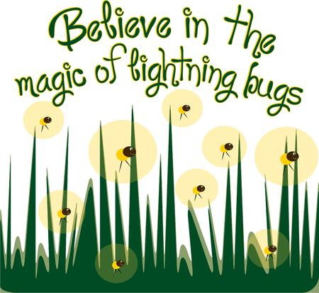 grass blade: Bring happy memories of summer evenings chasing fireflies with this design.  Use as part of your summer party dcor for a fun touch. Illustration