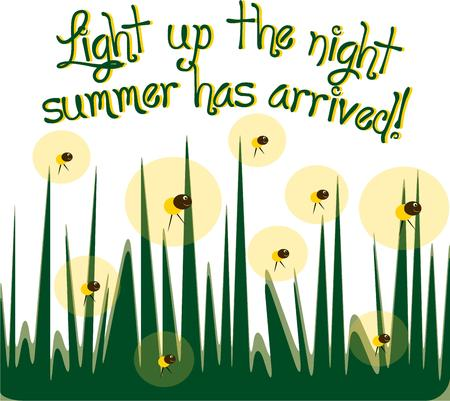 grass blades: Bring happy memories of summer evenings chasing fireflies with this design.  Use as part of your summer party dcor for a fun touch. Illustration