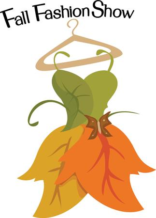 show plant: Couture for the autumn princess.  This exquisite creation of fall colored leaves is an amazing creation. Illustration