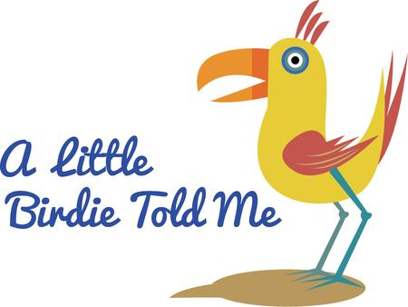 birdie: This colorful little birdie has a lot to say  He is a super fun decoration for your crafting.