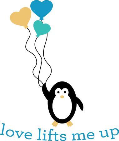 kumpel: Dieser s��e kleine Pinguin tr�gt einen gro�en Blumenstrau� der Valentinsgru�liebe. F�gen Sie eine liebevolle pal, um Ihr Projekt mit diesem gl�cklichen Pinguins.