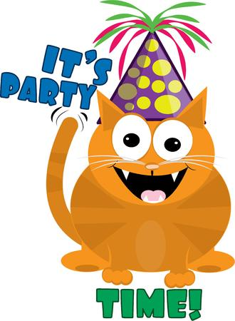 party wear: Put a hat on a cat and hes ready to party  Add our fun cat to your party wear and bring smiles to your guests