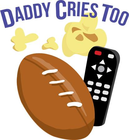 clicker: Get your game day gear ready for the big event.  Popcorn and a remote and you are ready to cheer your team to victory.