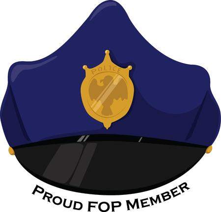 honoring: A hero wears a blue hat.  Our police hat is a perfect accessory to events honoring these heroes.