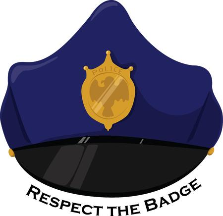 patrolman: A hero wears a blue hat.  Our police hat is a perfect accessory to events honoring these heroes.