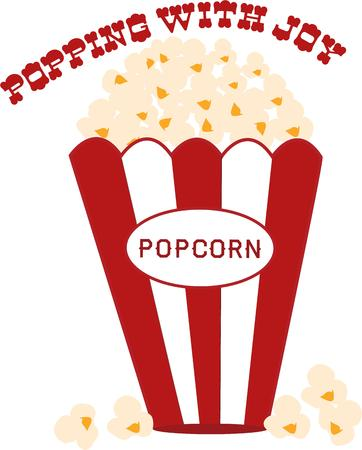 corny: You just have to have popcorn at the movies.  Bring along this striped box of the buttered treat for your next outing.